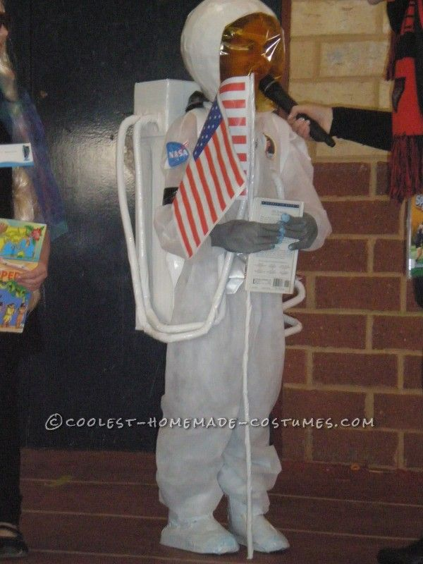 Homemade Astronaut Costume in Honor of Neil Armstrong...