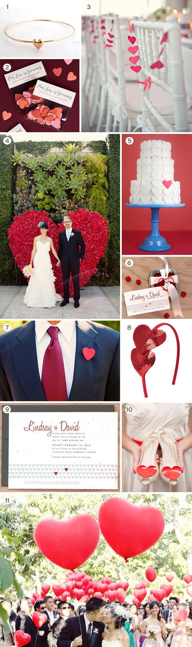 LOVE this! - Heart Theme Wedding Inspiration Board from www.botanicalpaperworks.com