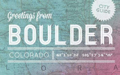 Boulder, CO City Guide