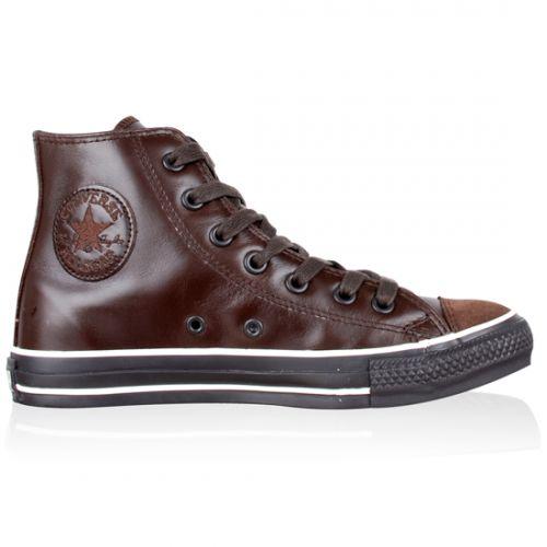 Converse All Star cuir marron chocolat