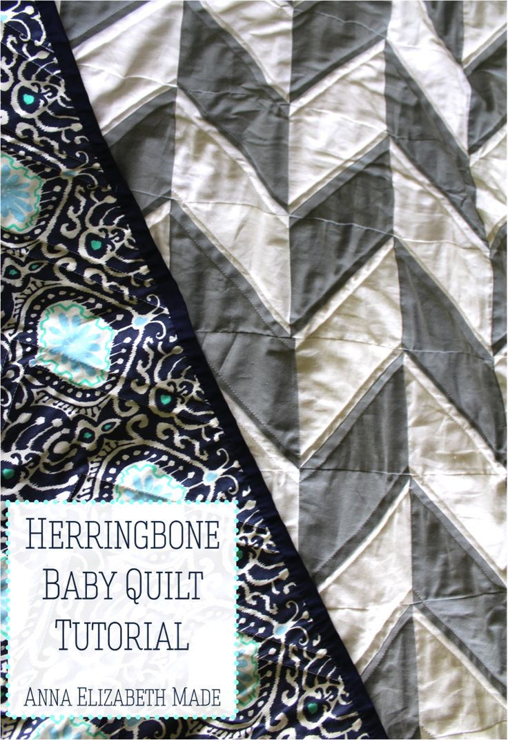 Anna Elizabeth Made: Herringbone Baby Quilt {Tutorial}