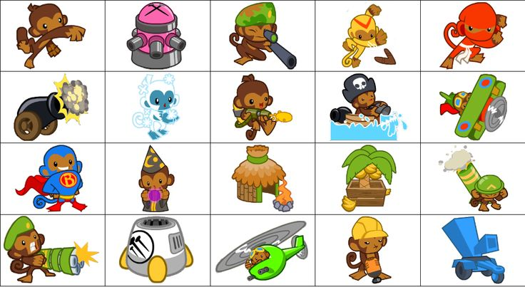 Bloons+TD+Battles+Towers+Official+Art | Bloons Tower Defense 4 Dart Monkey Tack Shooter Boomerang Throwerpng
