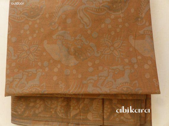 Batik Fabric Lawasan / Animal Floral Javanese / Ethnic by Abikara