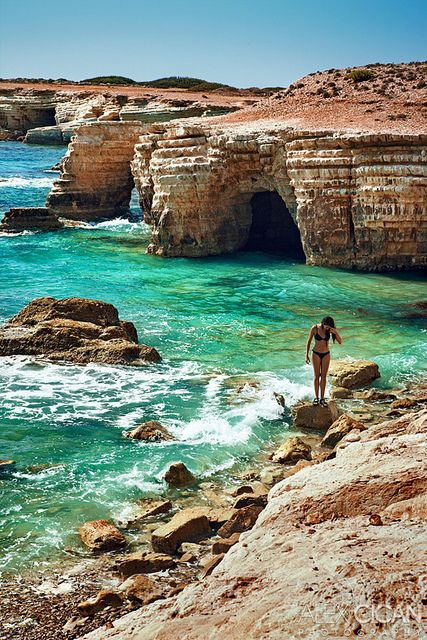 // let's go here: sea caves in paphos cyprus