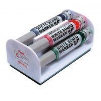 Markery suchościeralne Rystor RSP 0330 zestaw 4 kolorów + gąbka okrągłe
