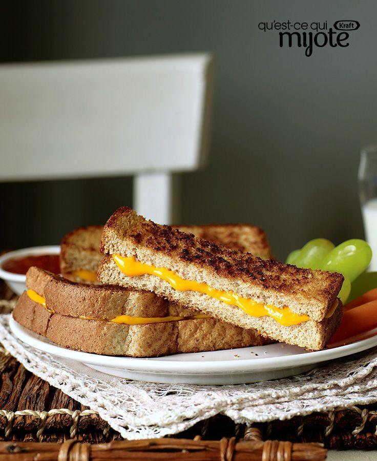 Bâtonnes de sandwich au fromage fondant #recette