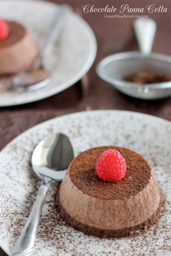Chocolate Panna Cotta on MyRecipeMagic.com