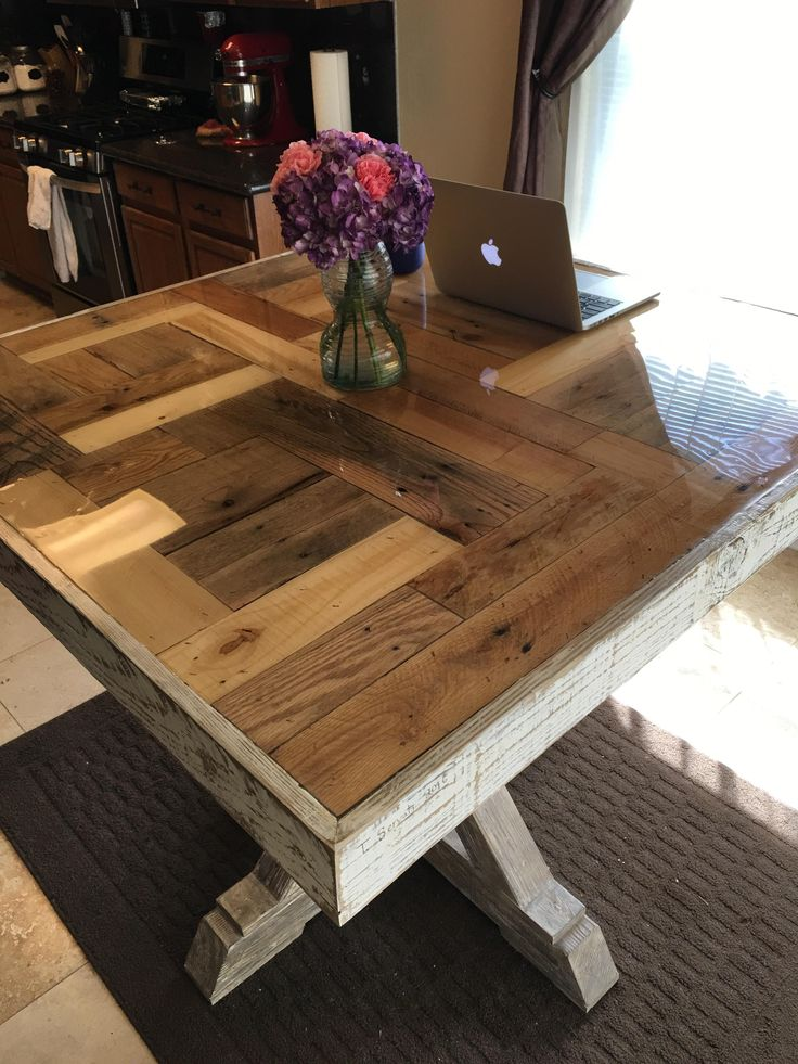 How to build a Pallet Table with Epoxy Top | Diy table top ...