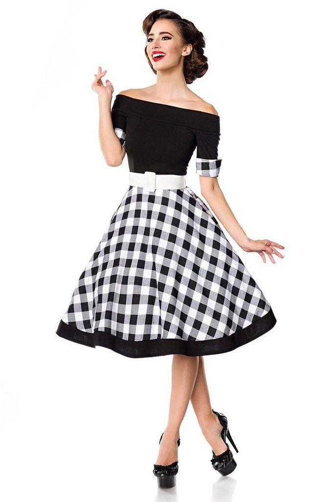 de87b41acf7c Retro šaty s kostkovanou sukní - koupit online na Glara.cz  saty  šaty   glara  fashion  dámskéšaty  damskesaty