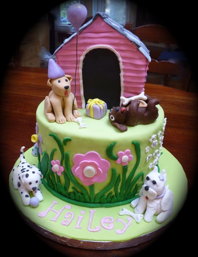 Dog Themed Birthday Cakes