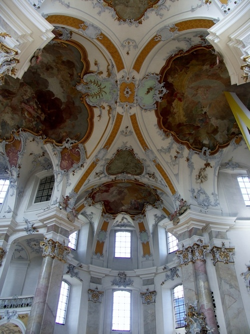 Basilika Vierzehnheiligen Architect:Johann Balthasar Neumann Location:near Bamberg, Germany   Date:1743 to 1772  Style: Baroque or Rococo