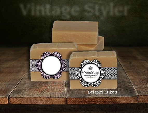 Soap Labels  Printable Editable Label Band Floral Vintage Style Design  Handmade Soap Candle