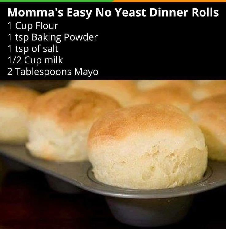 Easy No Yeast Dinner Rolls  These are so easy to make, all you do is combine all…