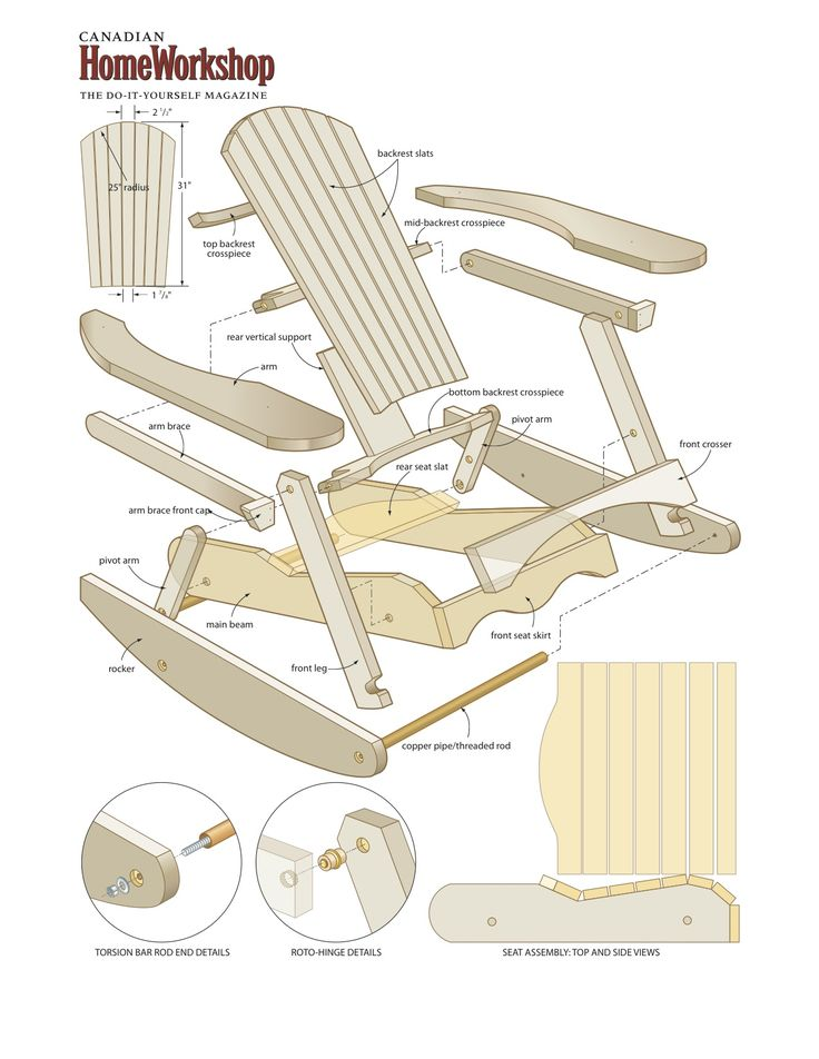 Plans for a rocking porch chair