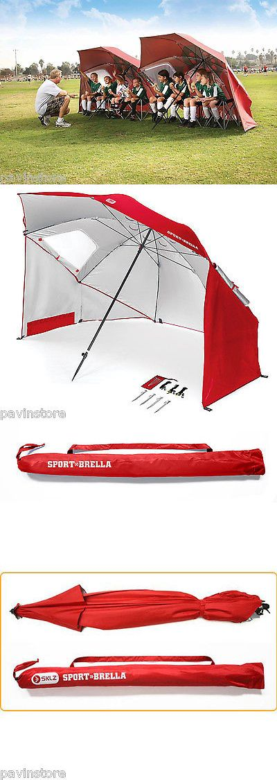 Canopies and Shelters 179011: Sport Brella Umbrella Portable Sun Rain Shelter Outdoor Camping Canopy Tent Red BUY IT NOW ONLY: $69.07
