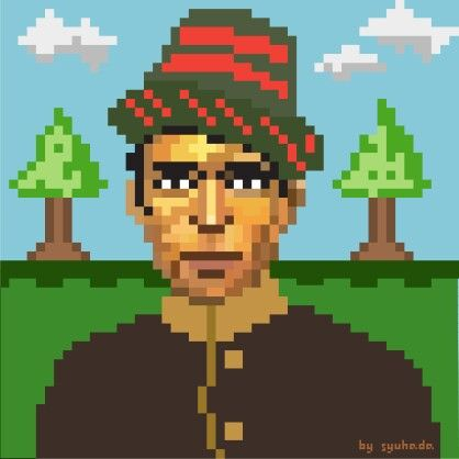 Pixel Art Teuku Umar #pixelart #pixel #aceh #meulaboh #indonesia #bandaaceh
