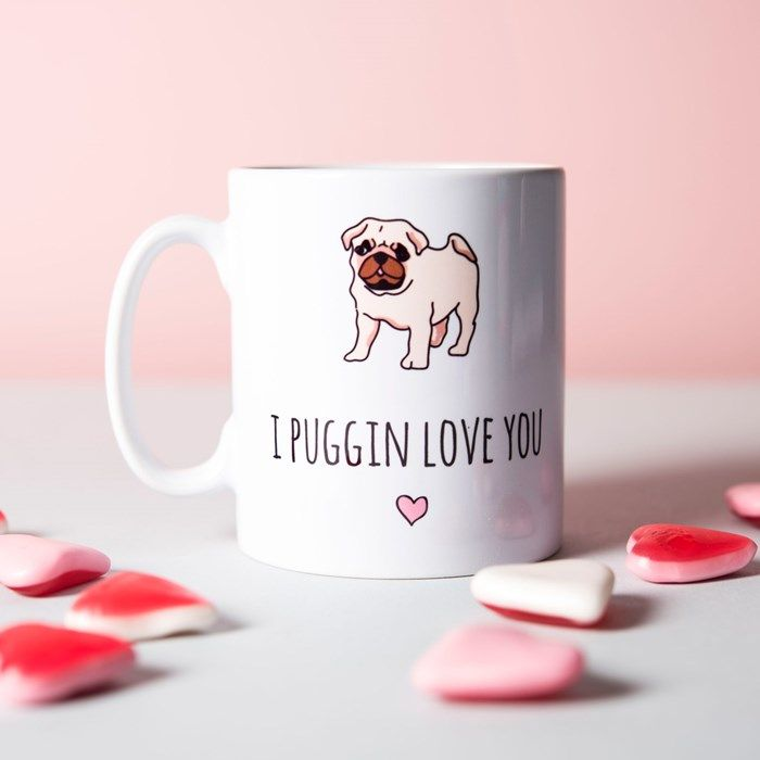 Personalised Mug - I Puggin Love You | GettingPersonal.co.uk