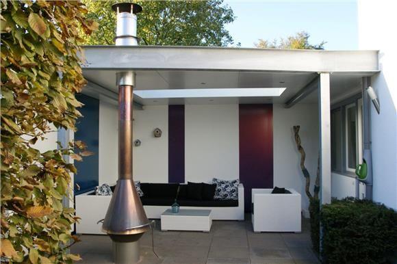 Voorbeeld dakdoorvoer tuinhaard tuin pinterest terrasoverkapping tuinhuis en tuin - Veranda met stenen muur ...