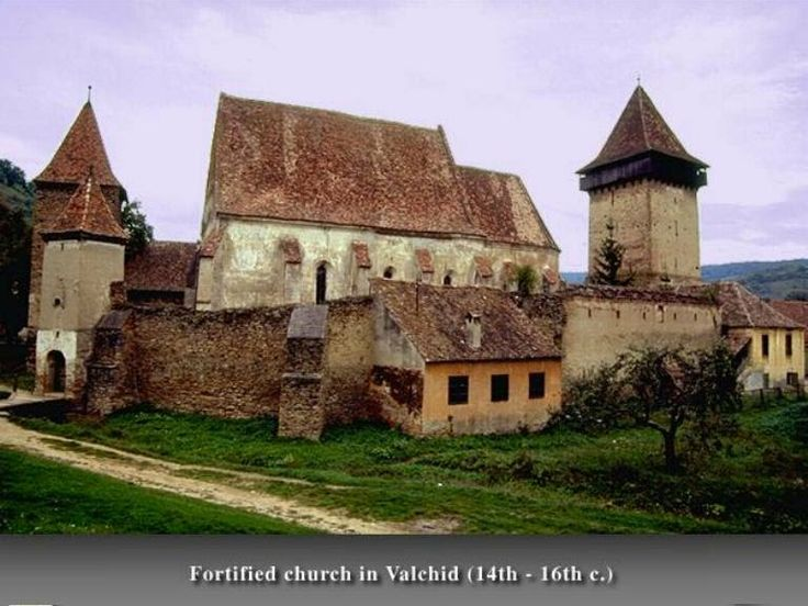 Valchid, Sibiu, Romania - Back view up to the cementary, Binder family church