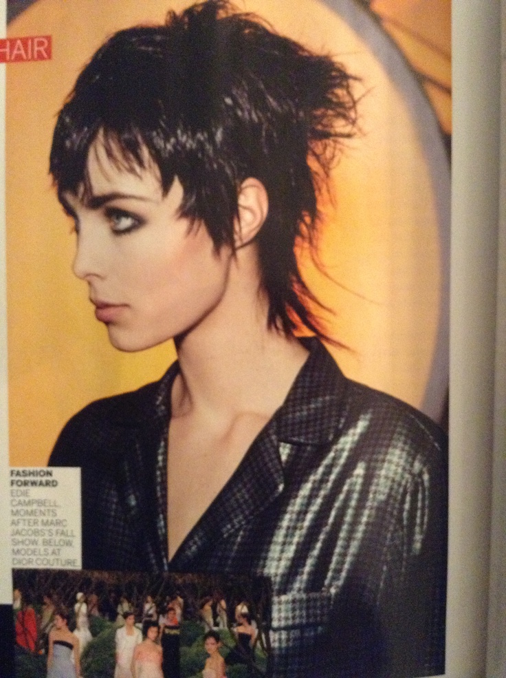 Edie Campbell Punked Up Tough Pixie Mullet Hairstyles