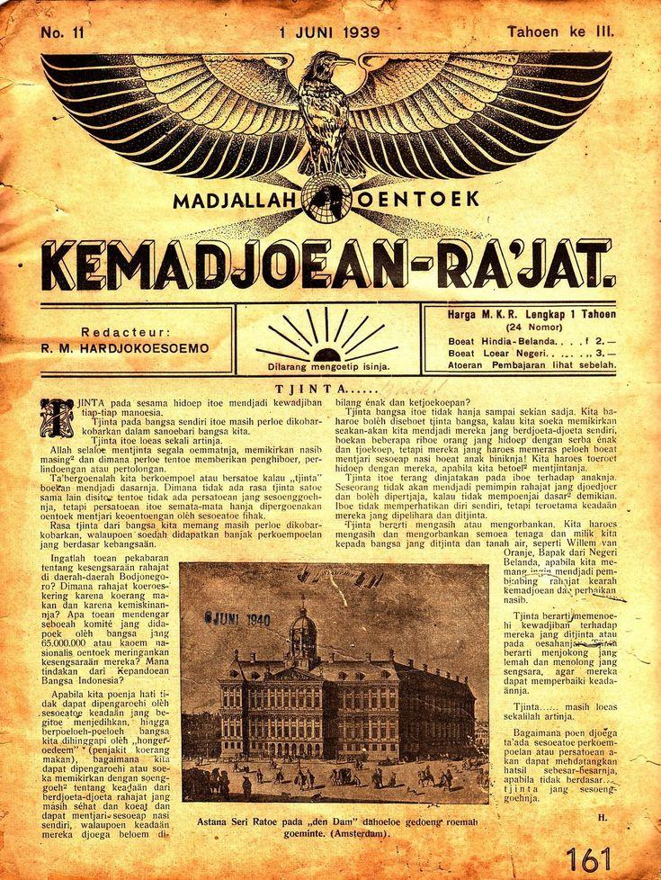 """Madjalah """"Kemadjoean-Ra'jat"""" edisi No. 11/Tahun III/1 Juni 1939"""