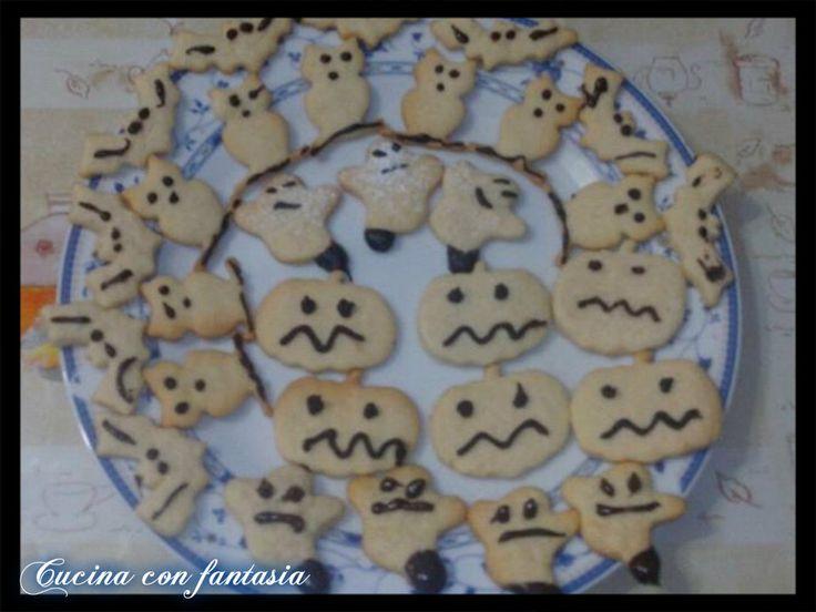 biscottini di Halloween senza uovo