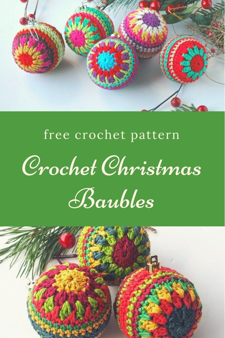 Christmas Baubles Free Pattern Annie Design Crochet Christmas Crochet Patterns Christmas Crochet Holiday Crochet