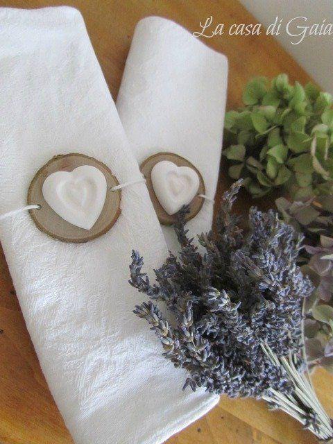 Porta tovaglioli in legno con cuore di gesso , by ♥La casa di Gaia♥, 1,20 € su misshobby.com