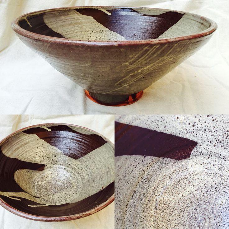 Bowl de loza, superposición de esmaltes.