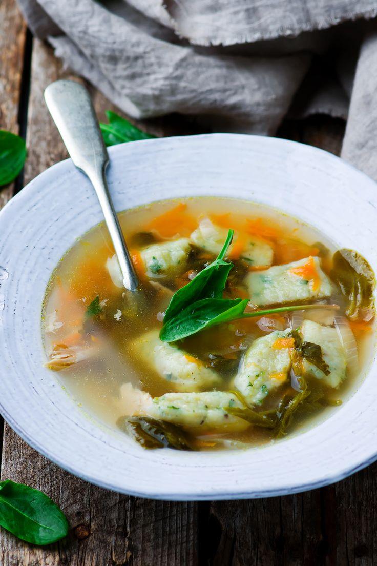 Зеленый  суп с ньокки