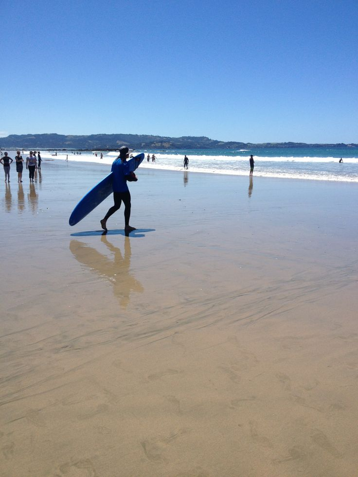 Surfing at Tawharanui Auckland www.wooree.co.nz