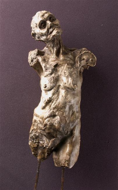 Camille Claudel  (1864-1943) -Torse de Clotho - Sculpture, plâtre