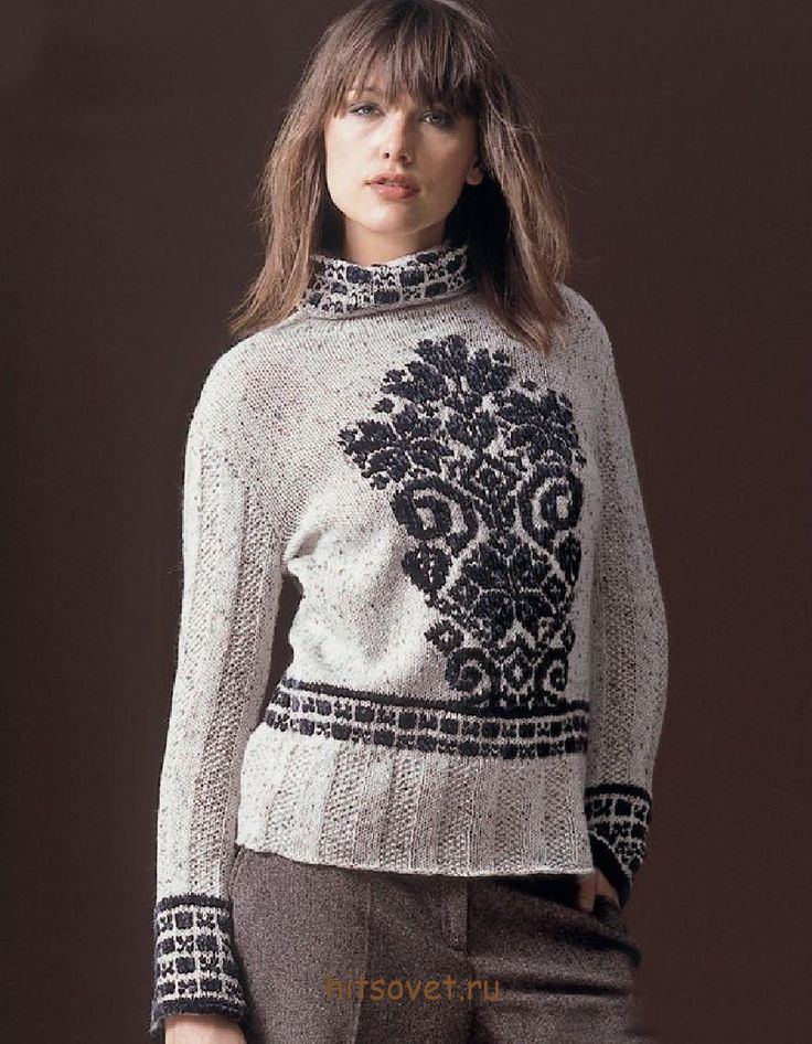 Pullover with jacquard motif