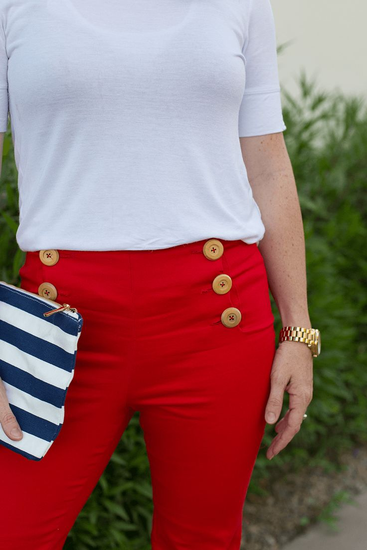 Sailor style pants pattern for women!