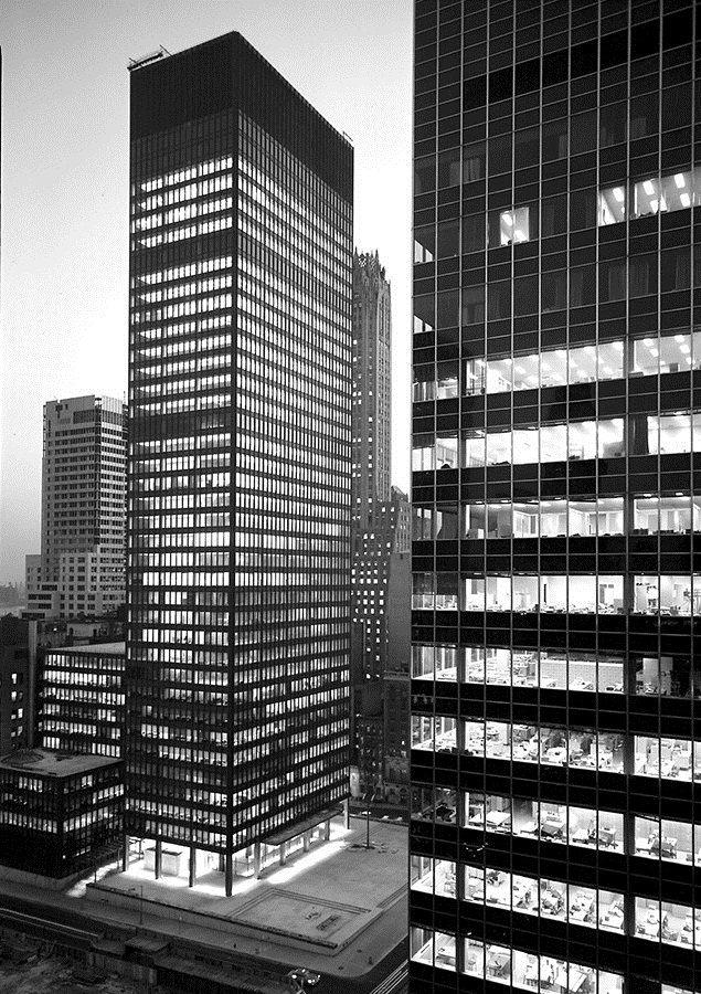 Seagram Building Floor Plan Modern set of