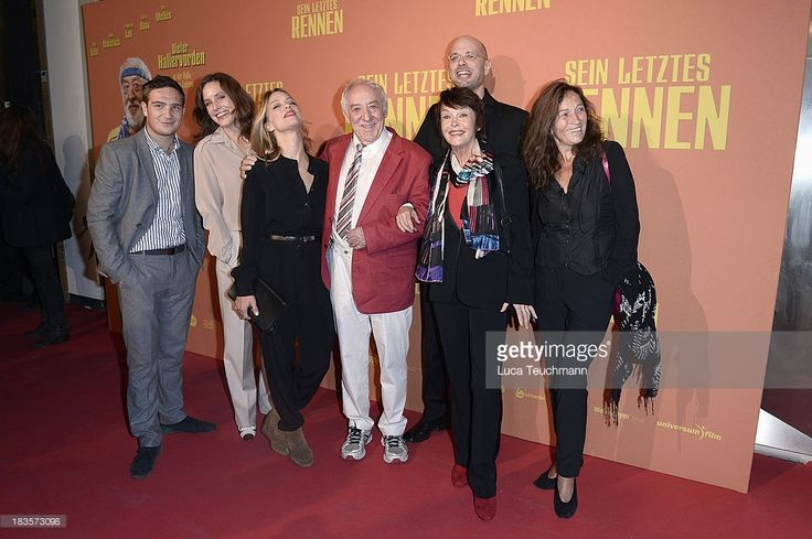 Frederick Lau, Katharina Lorenz, Heike Makatsch,Dieter Hallervorden, Katrin Sass, Kilian Riedhof and Tatja Seibt attend the 'Sein letztes Rennen' Premiere at Kino in der Kulturbrauerei on October 7, 2013 in Berlin, Germany.