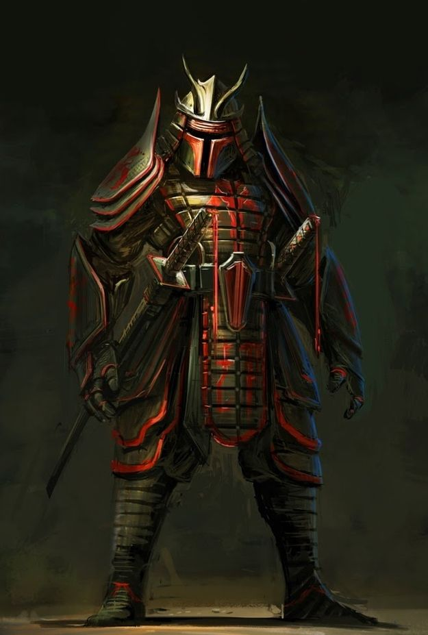 """While not truly Steampunk, this feudal Japanese-inspired """"Boba Fett"""" (Star Wars) art was created by Clinton Felker."""