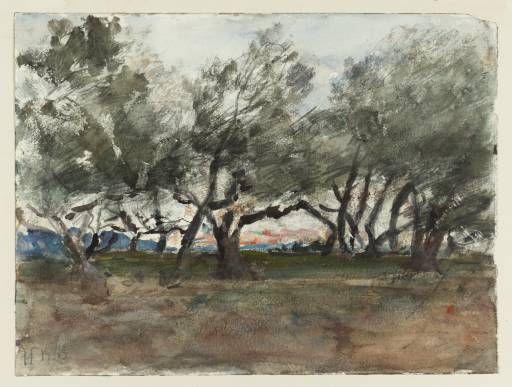Artwork page for 'Olive Trees at Corfu', Hercules Brabazon Brabazon