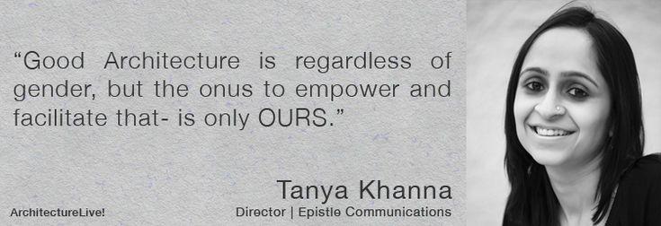Women in Architecture – Tanya Khanna