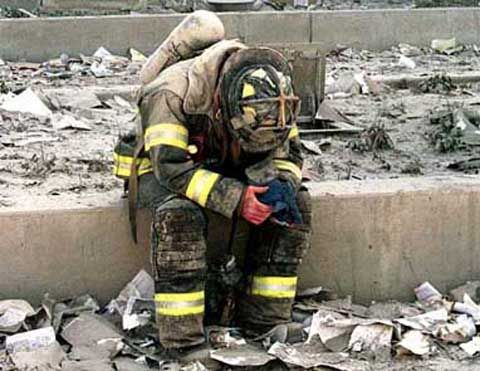 Fire-Fighter on nine eleven sitting | 11: When Religion Becomes the Patsy