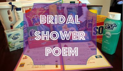 Fun, Practical Bridal Shower Gift, and the poem that goes with them!  Wedding shower gift, cleaning supplies, poem