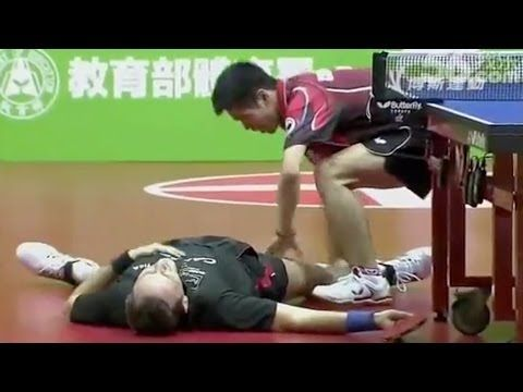 The Most Hilarious Ping Pong Match In History: 1) Jean-Michel Saive: (born 17 November 1969) is a Belgian professional table tennis player. In 1994 he made it to world number one for 515 days. 2) Chuang Chih-Yuan: born April 2, 1981 in Kaohsiung, Taiwan, Republic of China) is a Taiwanese table tennis player. Winner of ITTF Pro Tour Grand Finals 2002. As of September 2013 he is ranked 7th in the world.