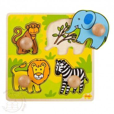 BigJigs My First Peg Puzzle - Safari www.naturalbabyshower.co.uk/bigjigs-my-first-peg-puzzle-safari.html