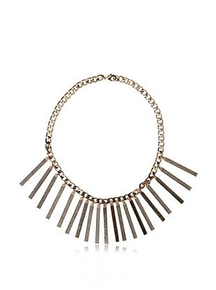 80% OFF Rebecca Minkoff Pave Runway ID Necklace
