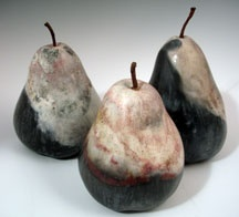 pinch pot fruit with glazing - then use for a still-life drawing or painting project