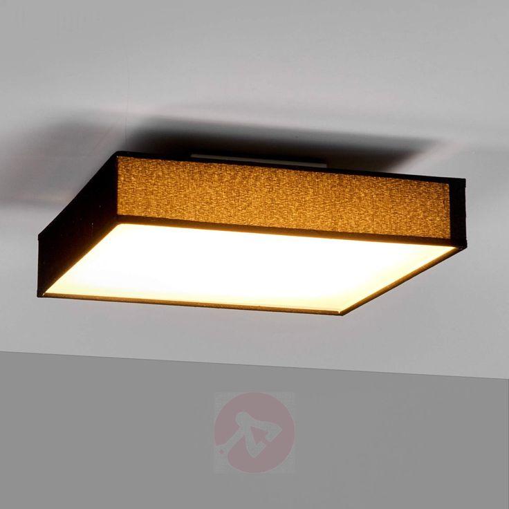 Kjøp Stoff-taklampe Oka i kantet form med LEDs