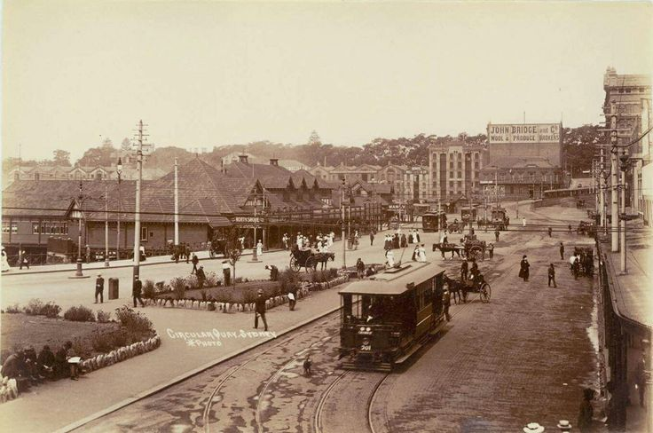 Circular Quay in Sydney in 1905. •State Library of NSW•
