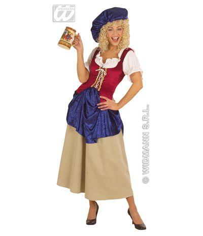Disfraz de Campesina Medieval : Disfraz de Campesina Medieval        El disfraz incluye: Vestido y sombrero        Composición: Loneta y terciopelo    Tienda de disfraces    http://www.disfracessimon.com/disfraz-campesina-medieval-p-332.html | disfracessimon