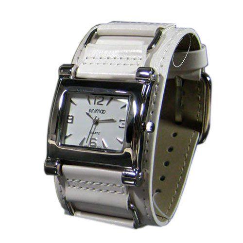 Damenuhr Leder in Weiss Silber Retro Designer Uhr Trend Watch - http://on-line-kaufen.de/animoo/damenuhr-leder-in-weiss-silber-retro-designer-uhr