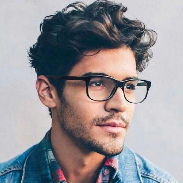 Brillengestelle Fur Manner Frauen Computer Myopia Optical Frame Vi In 2020 Hipster Haarschnitte Frisur Dicke Haare Haarschnitt Manner